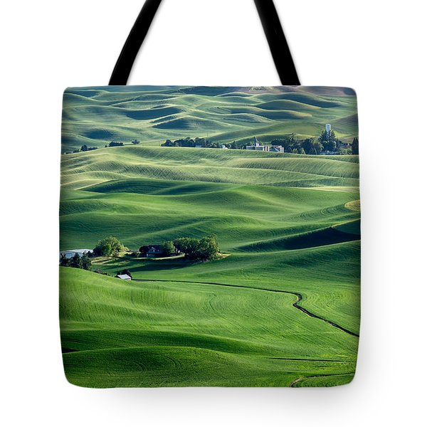 Palouse Wheat Farming Tote Bag