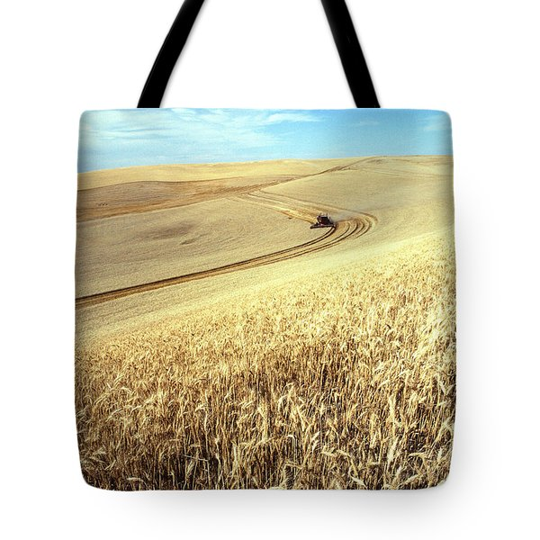 Palouse Wheat Tote Bag by USDA and Photo Researchers