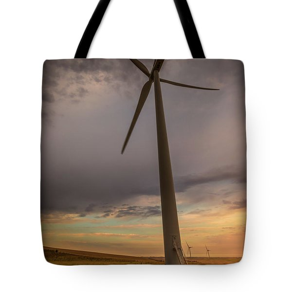Palouse Windmill At Sunrise Tote Bag by Chris McKenna