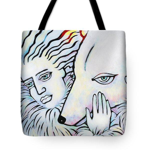 Tote Bag featuring the painting Pals by Angela Treat Lyon