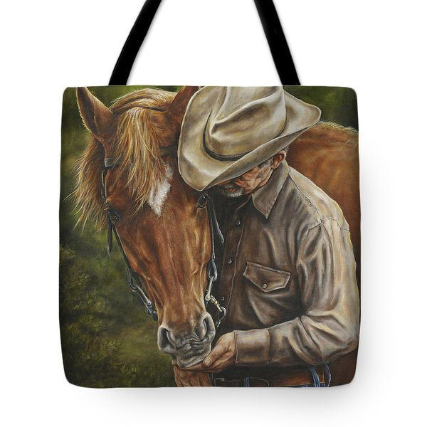 Tote Bag featuring the painting Pals by Kim Lockman