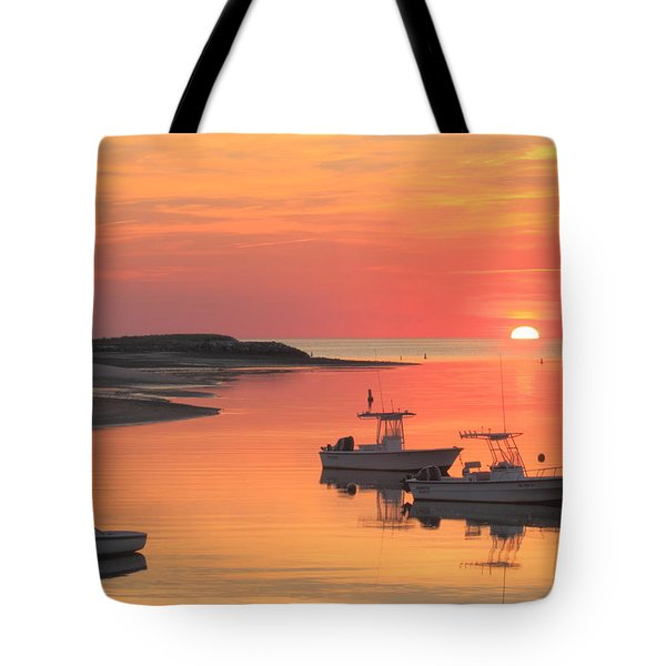 Pamet Harbor Cape Cod Truro Sunset Tote Bag