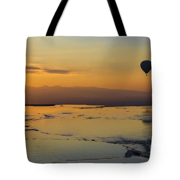 Pammukale Sunset Tote Bag by Yuri Santin