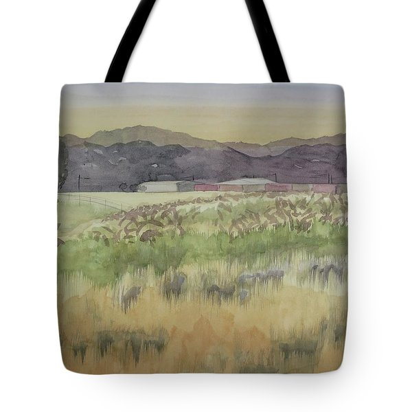 Pampas Grass Tote Bag by Bethany Lee