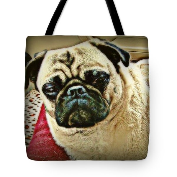 Pampered Pug Tote Bag