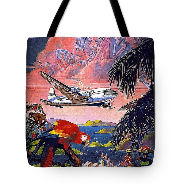 Pan American World Airways - Flying Clippers - Caribbean - Retro Travel Poster - Vintage Poster Tote Bag