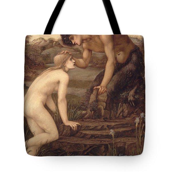 Pan And Psyche Tote Bag by Sir Edward Burne-Jones