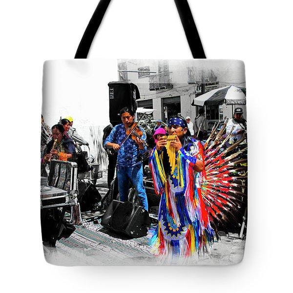 Pan Flutes In Cuenca Tote Bag by Al Bourassa
