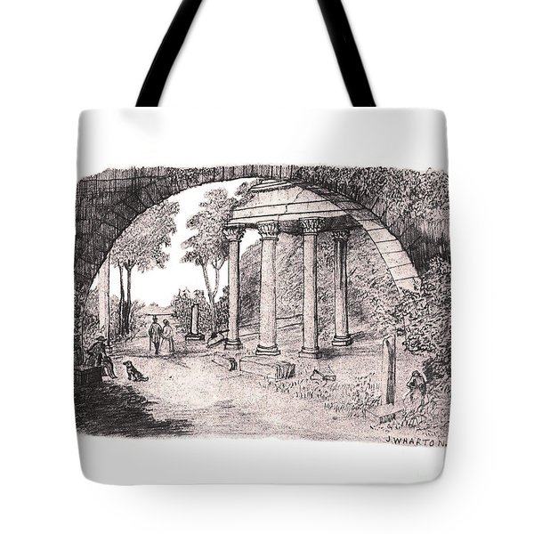 Pan Watching Ruins Of The Past Tote Bag