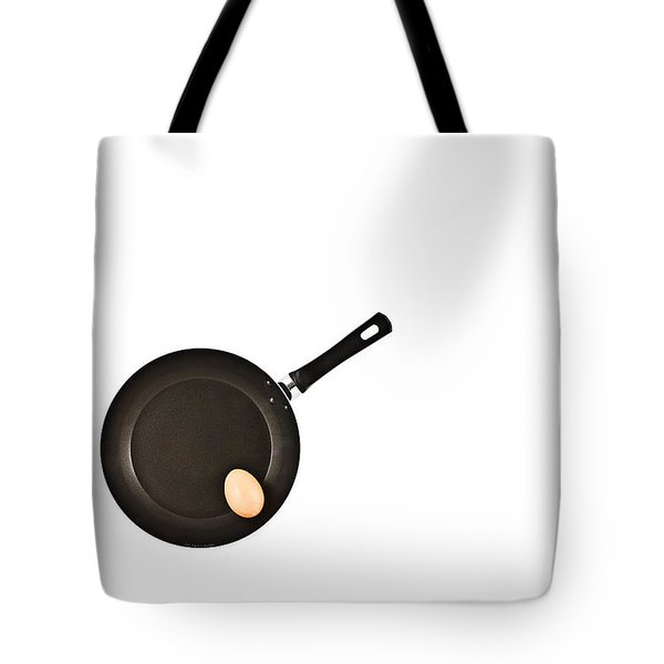 Tote Bag featuring the photograph Pan With Egg by Gert Lavsen