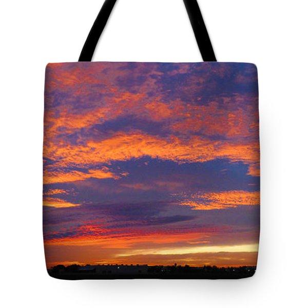 Pana 53rd Ave Sunrise Tote Bag by Kimo Fernandez