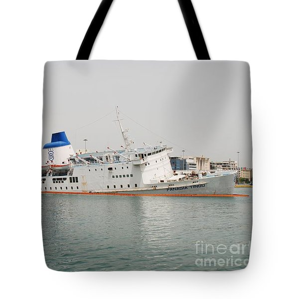 Panagia Tinou Ferry Sinking In Athens Tote Bag