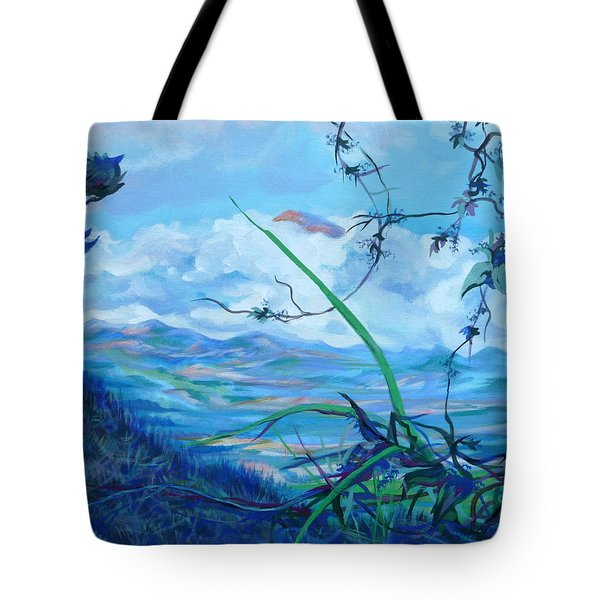 Tote Bag featuring the painting Panama. Anton Valley by Anna  Duyunova