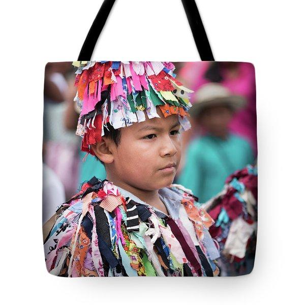 Panamanian Boy In Traditonal Costume Tote Bag
