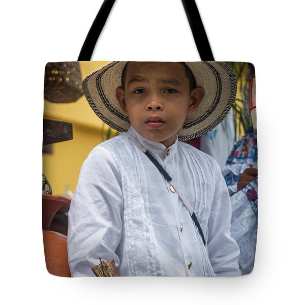 Panamanian Boy On Float In Parade Tote Bag