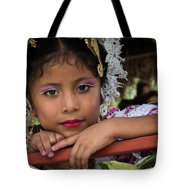 Panamanian Girl On Float In Parade Tote Bag