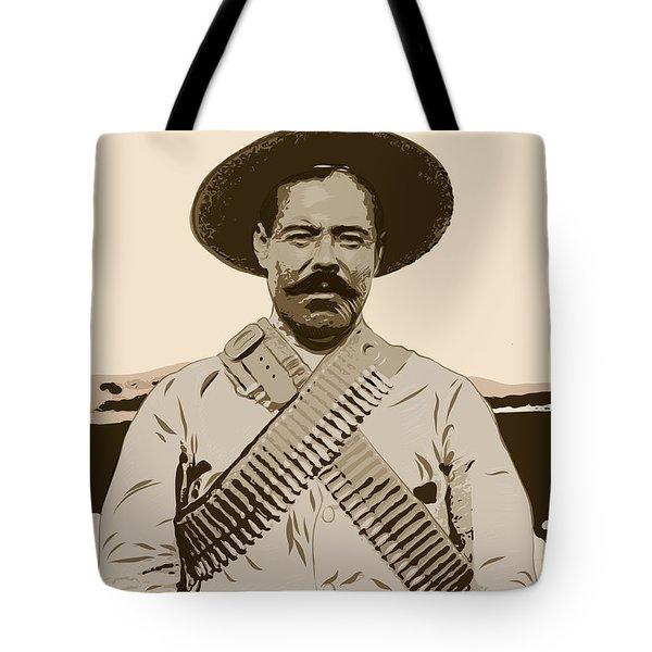 Tote Bag featuring the digital art Pancho Villa by Antonio Romero