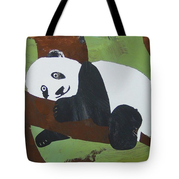 Tote Bag featuring the painting Panda Baby by Candace Shrope
