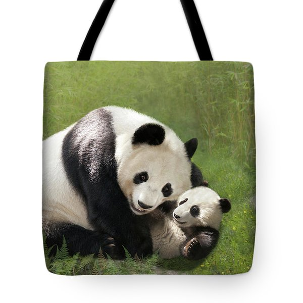 Panda Bears Tote Bag