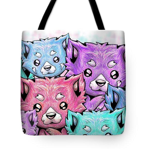 Curious Pandas Tote Bag