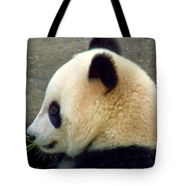 Panda Snack Tote Bag by Karen Wiles