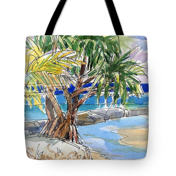 Pandanus Tree On Tapuaetai, Aitutaki Tote Bag