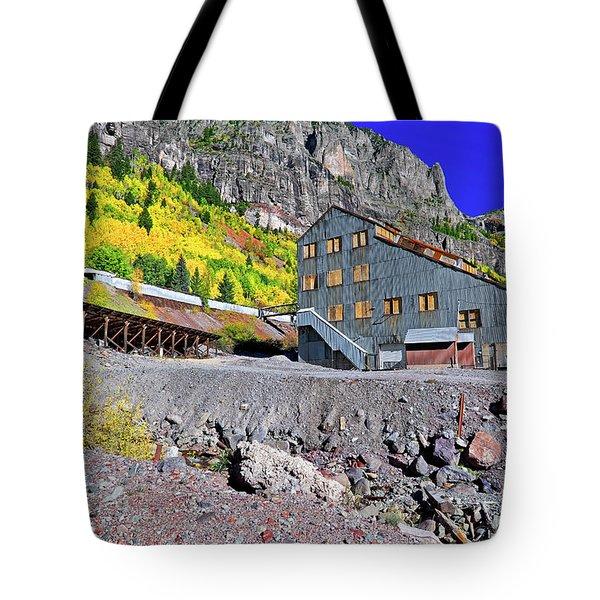 Pandora Mill - Telluride - Colorful Colorado Tote Bag by Jason Politte