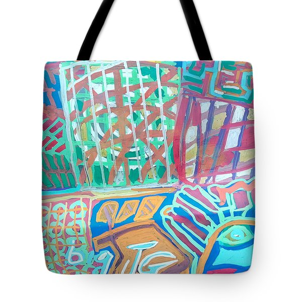 Panel Of Hand Painted Mondeo Tote Bag