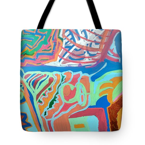 Panel On Hand Painted Ford Mondeo Tote Bag