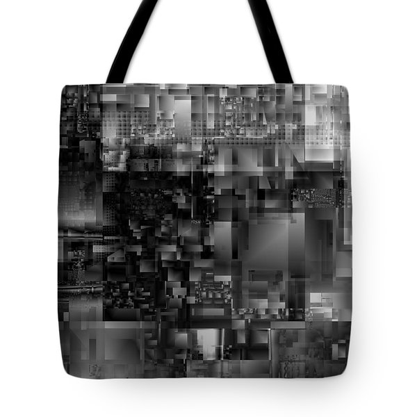 Panels In Grey Tote Bag