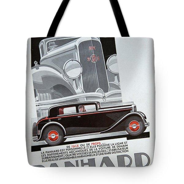 Panhard #8703 Tote Bag