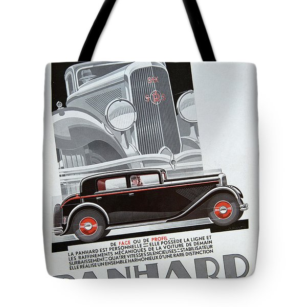 Tote Bag featuring the photograph Panhard #8703 by Hans Janssen