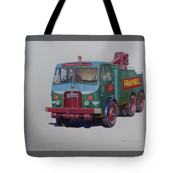 Tote Bag featuring the painting Pannell Leyland Wrecker. by Mike Jeffries