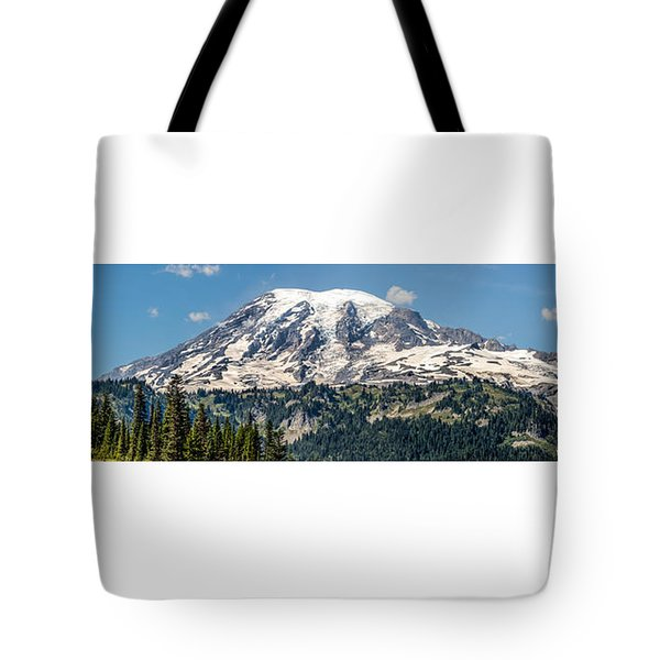 Panorama #1 Of Mt Rainier Tote Bag