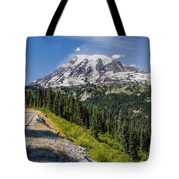 Panorama #2 Of Mt Rainier Tote Bag