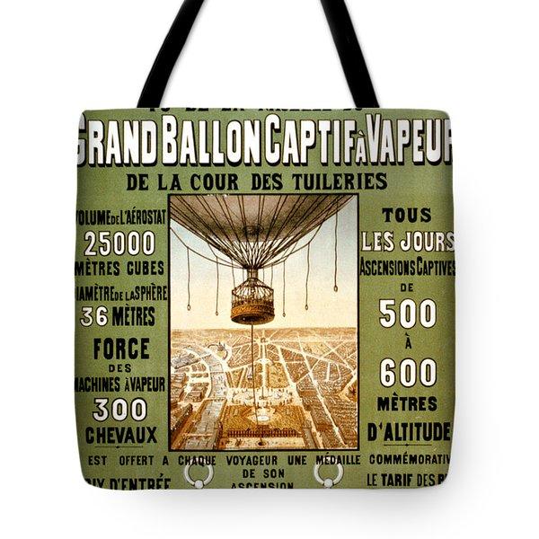 Panorama De Paris Tote Bag