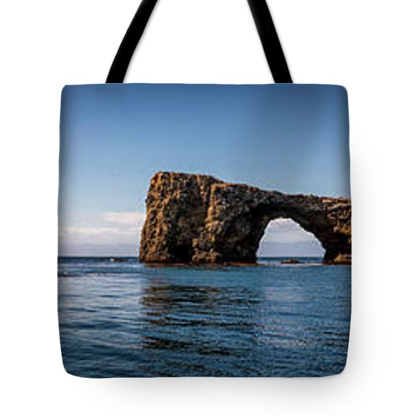 Tote Bag featuring the photograph Panorama Of Anacapa Rocks by Endre Balogh