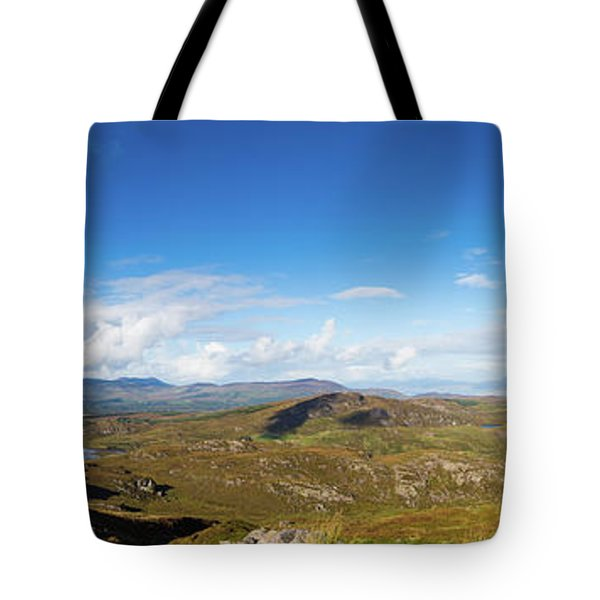 Tote Bag featuring the photograph Panorama Of Ballycullane And Lough Acoose In Ireland by Semmick Photo