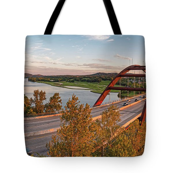Panorama Of Lake Austin And Texas Hill Country From Highway 360 Overlook - Austin Texas Tote Bag