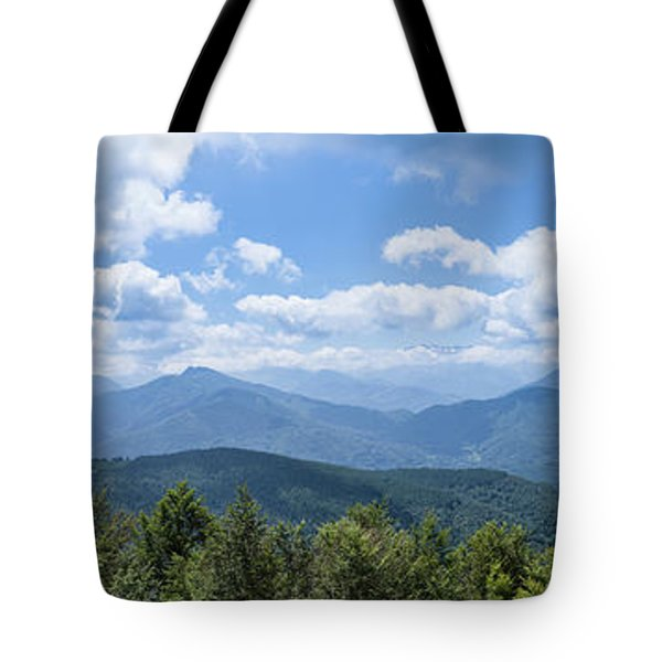 Panorama Of The Foothills Of The Pyrenees In Biert Tote Bag