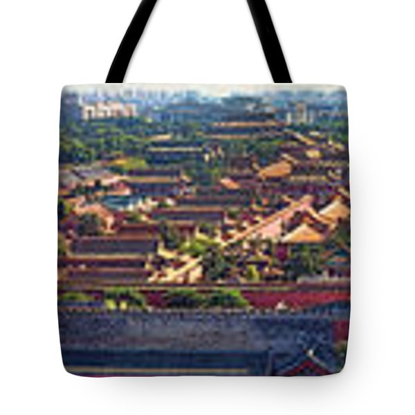 Panorama Of The Forbidden City In Bejing Tote Bag