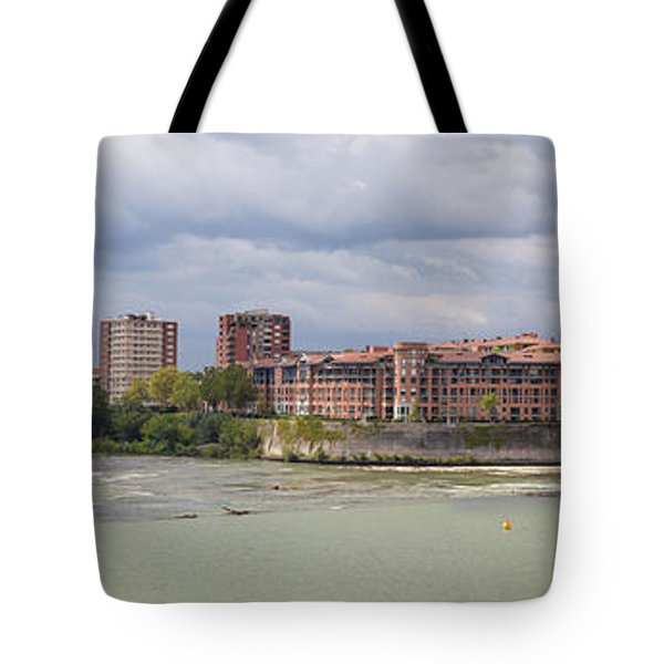 Tote Bag featuring the photograph Panorama Of The Hydroelectric Power Station In Toulouse by Semmick Photo