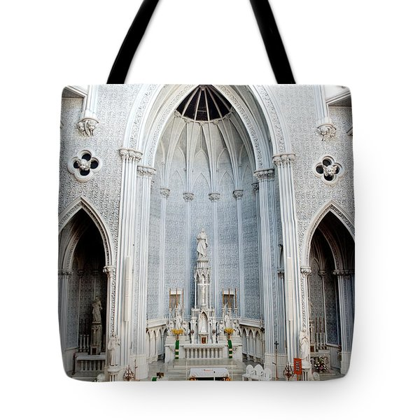 Panorama Of The Main Altar Of St. John The Evangalist Roman Catholic Church Schenectady Tote Bag