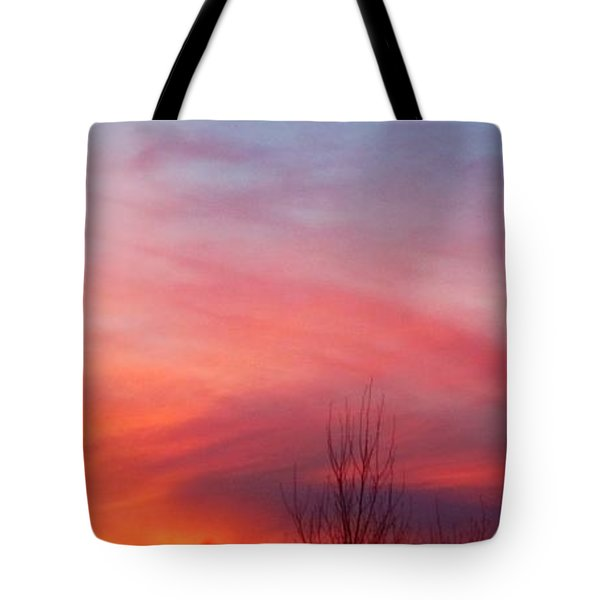 Panorama Sunset  Tote Bag