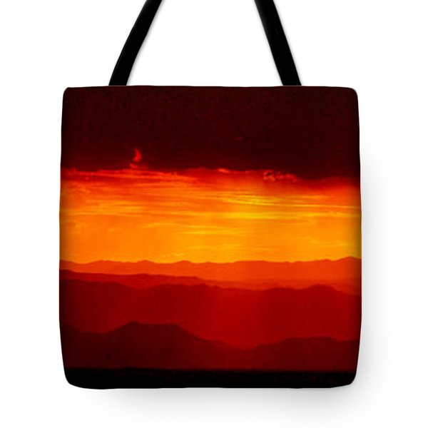 Panorama - Valley Of Fire Sunset 003 Tote Bag by George Bostian