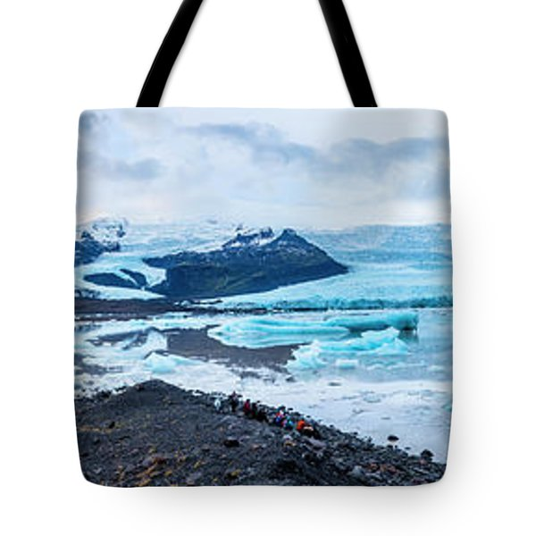 Panorama View Of Icland's Secret Lagoon Tote Bag