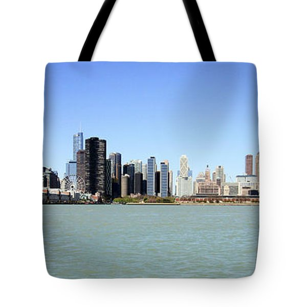 Tote Bag featuring the photograph Panoramic Chicago by Jackson Pearson