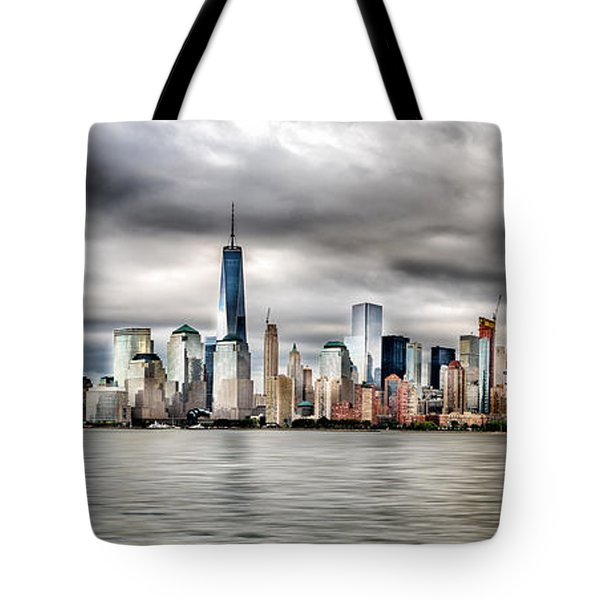 Panoramic New York City Tote Bag