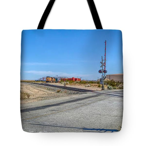 Panoramic Railway Signal Tote Bag