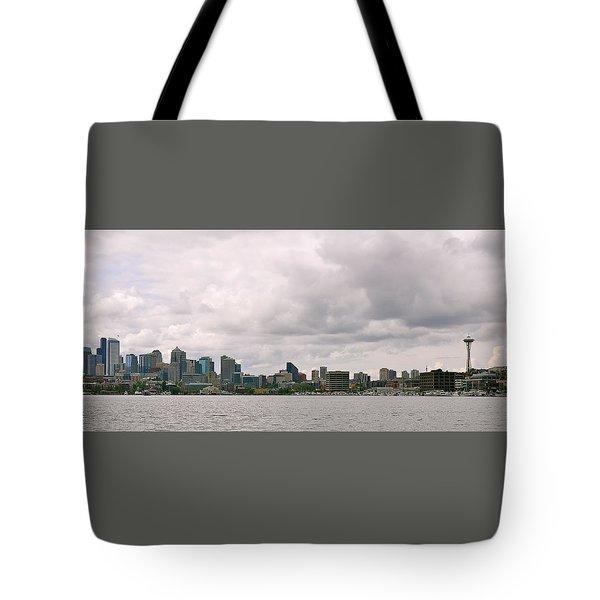 Panoramic Seattle Tote Bag